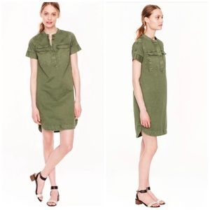 J crew military shirt dress in olive